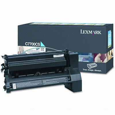 Lexmark International C7700CS Print Cartridge, Cyan                                                                                                