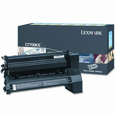 Lexmark International C7700KS Print Cartridge, Black                                                                                               