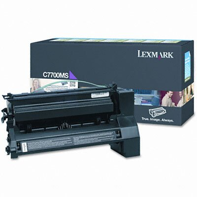 Lexmark International C7700MS Print Cartridge, Magenta