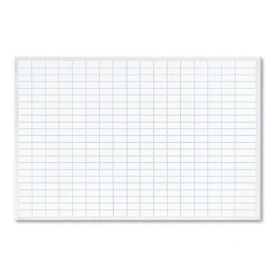 MAGNA VISUAL, INC.                                 Planning Board, 1 x 2 Grid, Porcelain-on-Steel, 36 x 24, Blue/White