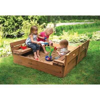 Badger Basket Cedar Sandbox with Two Bench Seats