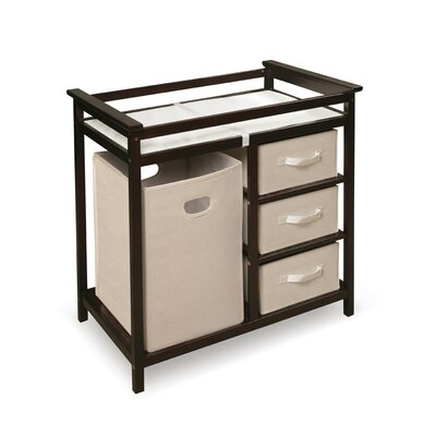 Badger Basket Modern Baby Change Table with 3 Baskets and Hamper