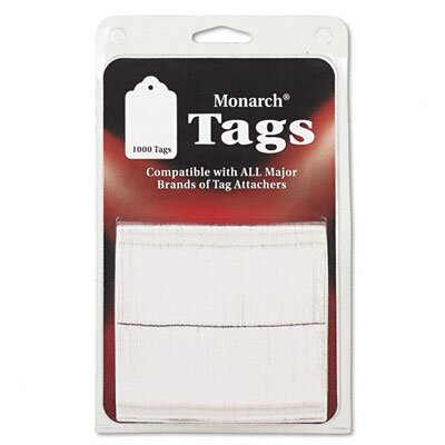 Monarch Marking Refill Tags For SG Tag Attacher Kit, 1-1/2 x 1, White, 1000 per Pack