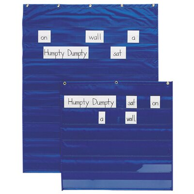 "Pacon Corporation Standard Word/Sentence Strip Pocket Chart, 34""x50"", Blue"