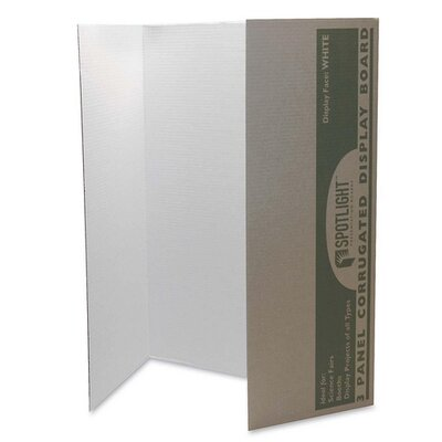 "Pacon Corporation Single Walled Presentation Board,40""x28"",8/ST,White"