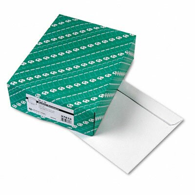 Quality Park Products Open Side Booklet Envelope, Contemporary, 13 x 10, White, 100/box