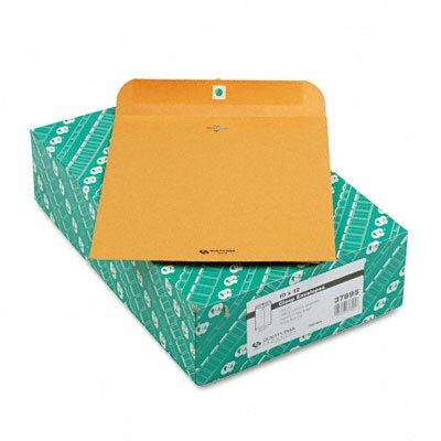 Quality Park Products Clasp Envelope, 10 x 12, 28lb, Light Brown, 100/box