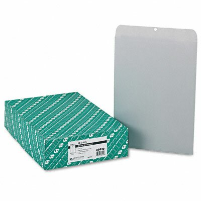 Quality Park Products Clasp Envelope, 12 x 15 1/2, 28lb, Executive Gray, 100/box