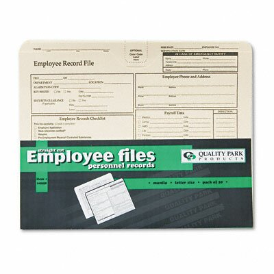 Quality Park Products Employee Record Folder, 20/Pack