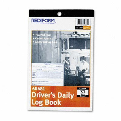 Rediform Office Products Driver's Daily Log, 5 1/2 X 7 7/8, 31 Sets/Book