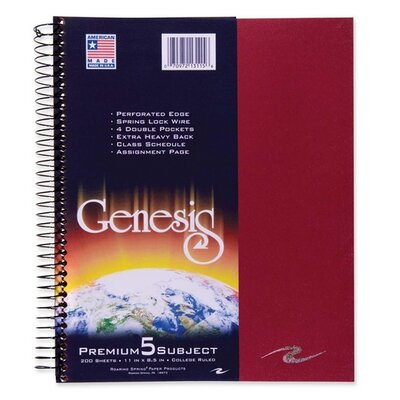 Roaring Spring Paper Products Genesis Notebook, 200 Sheets/Pad