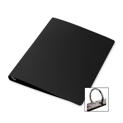 3-Ring Binder,28 Gauge Poly,1/2
