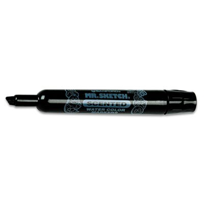 Sanford Ink Corporation Mr. Sketch Scented Watercolor Marker, Chisel Tip, Black