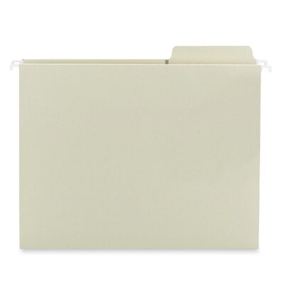 Smead Manufacturing Company Hanging Folders,w/2-Ply Tabs Attached,1/3 Tab,Ltr,20/BX,Moss