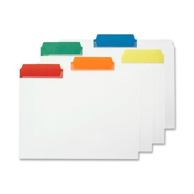 "Smead Manufacturing Company File Folder, Letter, 1/3"", Poly Color Tabs, 25 per Box, Assorted"