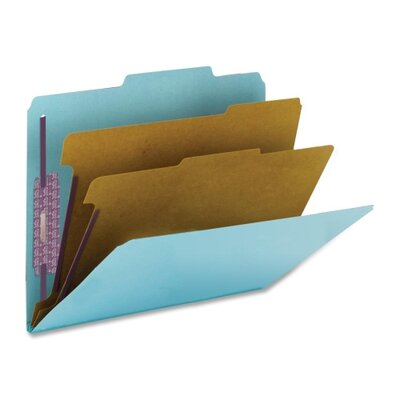 "Smead Manufacturing Company Classification Folder w/SF, Ltr, 2"" Exp, 10 per Pack, Blue"