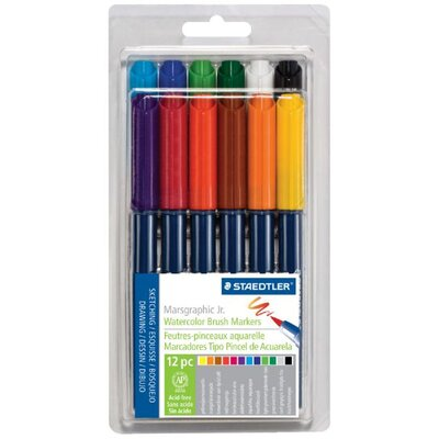 Staedtler, Inc. Marsgraphic Jr. Watercolor Brush Marker (Set of 12) (Set of 12)