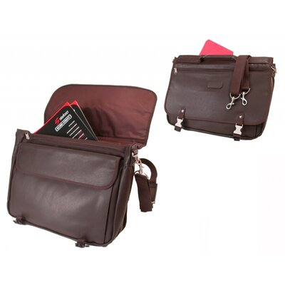 Stebco LLC Leather Look Expandable Briefcase Messenger Bag in Mahogany