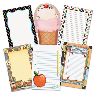 Teacher Created Resources Notepad Set, 50-Sheet, 6-Pack