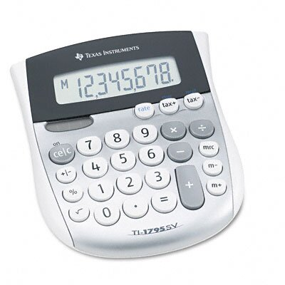 Texas Instruments TI-1795SV Minidesk Calculator 8-Digit LCD