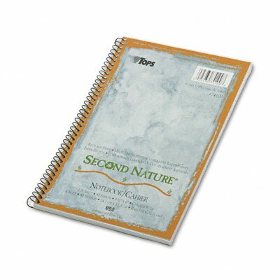 Tops Business Forms Second Nature Subject Wire Notebook College Rule, 80 Sheets