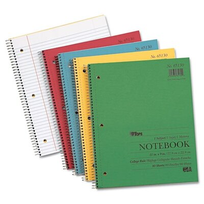 Tops Business Forms Kraft Subject Notebook, College Rule, 80 Sheets
