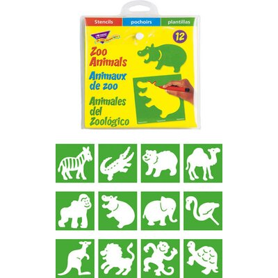 Trend Enterprises Stencils Zoo Animals