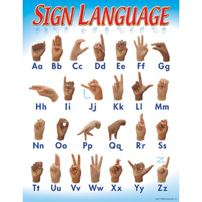 Trend Enterprises Chart Sign Language 17 X 22 Gr 1-2
