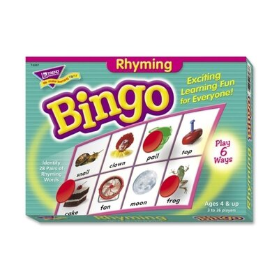 Trend Enterprises Rhyming Bingo Game