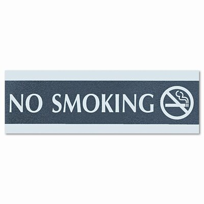 U.S. Stamp & Sign Headline Sign Century Series Office Sign, No Smoking