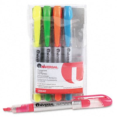 Universal® Liquid Pen Style Highlighter (Set of 5)