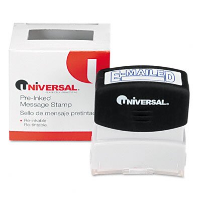 Universal® Message Stamp, E-Mailed, Pre-Inked/Re-Inkable