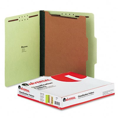 Universal® Pressboard Classification Folder, Letter, Four-Section, 10/Box