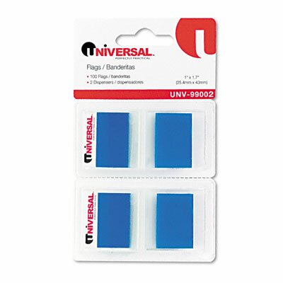 Universal® Page Flags, 50 Flags/Dispenser, 2 Dispensers/Pack