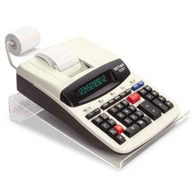 Victor Technology Large Angled Acrylic Calculator Stand, 9 X 11 X 2