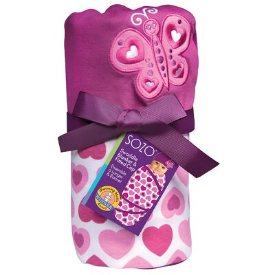 Sozo Hearts Swaddle Blanket and Cap Set