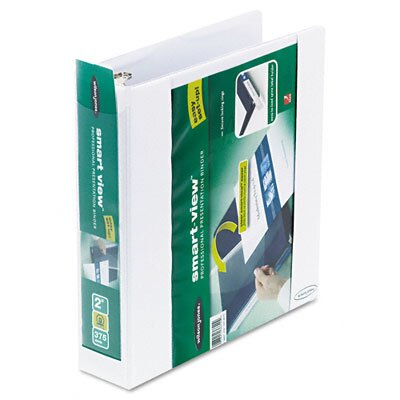 Wilson Jones Smart-View Vinyl Round Ring View Binder, 2in Capacity
