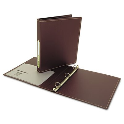 "Wilson Jones Recycled Foam Polypropylene Ring Binder, 11 x 8-1/2, 1"" Cap., Brown"