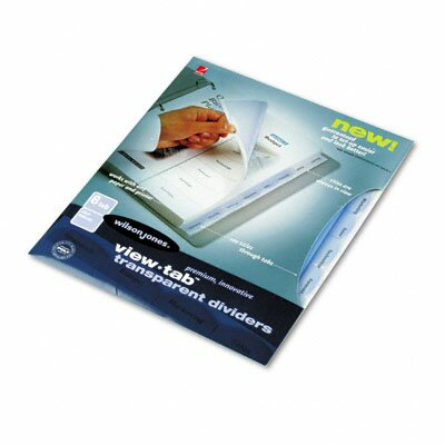 Wilson Jones View-Tab Transparent Index Dividers, 8-Tab, Square, Letter 8