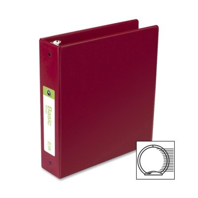 Wilson Jones Basic Vinyl Round Ring Binder, 2&quot; Capacity, Burgundy