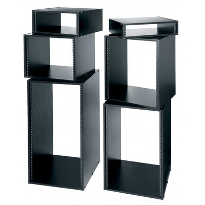 "Middle Atlantic 22"" D Black Laminate Knock-Down Rack"