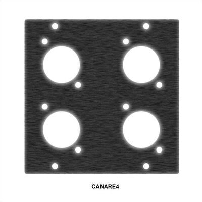Middle Atlantic Canare BNC Recessed Cable Panel Punchouts