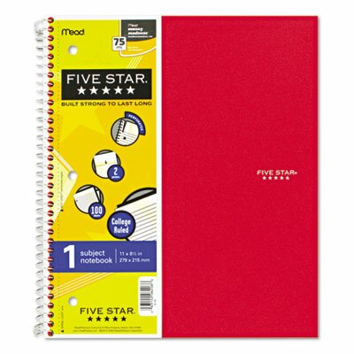 Mead Five Star Wirebound Notebook, College Rule, Letter, 100 Sheets