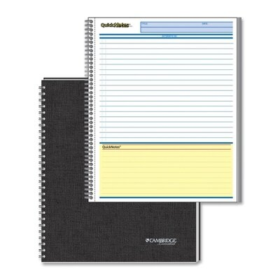 Mead Quick Notes 2-Sub Business Notebook