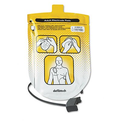 Defibtech Adult Defibrillation Pads, For Adult Use Only (8 Years. Or Older), 1 Pair