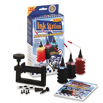 Dataproducts 60391 InkStation Refilling Kit, Cap Remover, Tri-Color