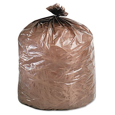 Stout Eco-Degradable Plastic Trash Garbage Bag, 39 Gal, 1.1Mil, 33X44, 40/Box