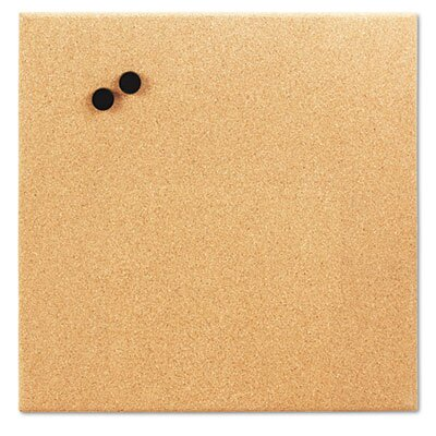 The Board Dudes Magnetic Canvas Cork Board, 17 X 17