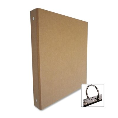 "Aurora Products 3-Ring Binder, Recycled, 1"" Capacity, Brown/Kraft"