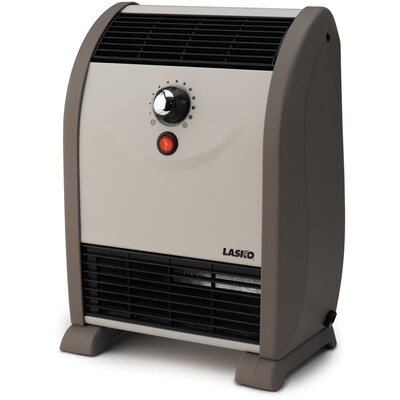 Lasko 750 Watt Fan Forced Compact Space Heater with Thermostat